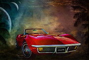 Speed Digital Art Originals -  Chevrolet Corvette1972 by Andrzej  Szczerski