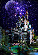 Tower Digital Art Originals -  Cinderella Castle by Andrzej  Szczerski