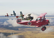 Biplane Prints -  Circus comes to Town Print by Pat Speirs
