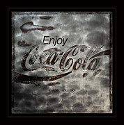 Coca-cola Sign Art -  Coca Cola Sign Grungy Red Retro Style by John Stephens