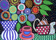 Teapot Paintings -  Coffee Break by Kerri Ambrosino GALLERY