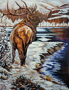 Susan Bergstrom Art -  Colorado Winter by Susan Bergstrom
