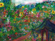 Lovesick Prints -  Come Into Your Garden Print by Deborah  Montana