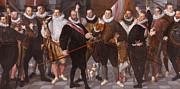 Famous Artists - Company of Captain Dirck Jacobsz Rosecrans and Lieutenant Pauw. Amsterdam by Cornelis Ketel