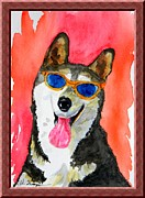 Siberian Husky Paintings -  COOL Husky by Warren Thompson