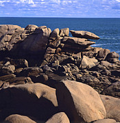 Close-up Art -  Cotes dArmor. cote de granit rose .pink granite coast. Brittany. France by Bernard Jaubert