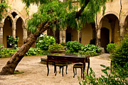 St. Francis Of Assisi Prints -  Courtyard St. Francis Of Assisi Sorrento Italy Print by Xavier Cardell