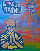 Stencil Art Paintings -  Dalai Lama 1 by Tony B Conscious