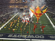 Nfl Raiders Pictures Posters -  Dallas Cowboys Thanksgiving Halftime Show Poster by Donna Wilson