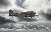 Storm Clouds Digital Art Prints -   DC3 Dakota   Workhorse Print by Pat Speirs