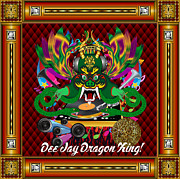 Ballroom Mixed Media Posters -    Dee Jay Dragon King Poster by Bill Campitelle