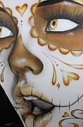 Beautiful Eyes Metal Prints -  Dia de los Muertos Metal Print by Christian Chapman Art