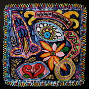 Face Tapestries - Textiles Prints -  Dia de los Muertos  Print by Susan Sorrell