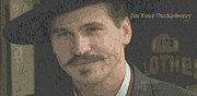 Holliday Digital Art -  Doc Holliday Im Your Huckleberry by Marion Matteo