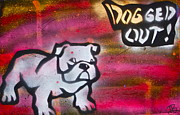 Love The Animal Painting Prints -  Dogged Out 1 Print by Tony B Conscious