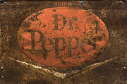 Kicks Prints -  Dr Pepper Vintage Sign Print by Bob Christopher