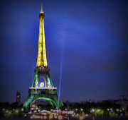 Champ De Mars Prints -  Eiffel Tower At Dusk Print by Lee Dos Santos