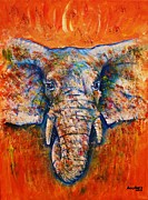 Zoo Drawings Prints -  Elephant Print by Anastasis  Anastasi