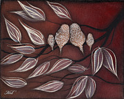 Family Tree Paintings -  Family of 4 by  Abril Andrade Griffith
