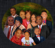 African-american Painting Framed Prints -  Family Portrait  Framed Print by Reggie Duffie