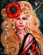 Choker Paintings -  Fancy Beauty Grows by Kimberly Van Rossum