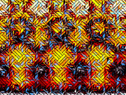 Quilts Digital Art -  Fire N Ice Weave 6 by Carmen Hathaway