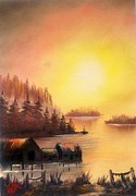 Fisherman's Retreat. Print by Fineartist Ellen