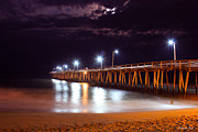 Light Greeting Cards Prints -  Fishing Pier_V2 Print by Christopher  Ward
