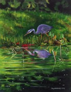 Maine Artist Paintings -  Food Chain   by Joy Bradley                   DiNardo Designs