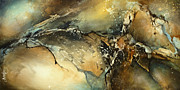 Earth Tones Metal Prints -  Fractured  Metal Print by Michael Lang