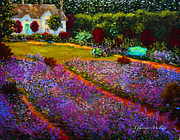 California Fine Art Galleries Paintings -  French Palette of Purple Irises by Glenna McRae