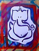 Stencil Art Paintings -  Fresh Ganesh 2 by Tony B Conscious