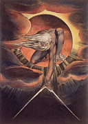 Printed Metal Prints -  Frontispiece from Europe. A Prophecy Metal Print by William Blake