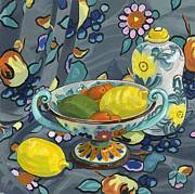 Colorfull Paintings -  Fruit Bowl by Jane Dunn Borresen