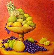 Passion Fruit Painting Prints -  FruitPassion Print by Lisa Carlen