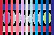 Fun Geometric  Print by Mark Ashkenazi