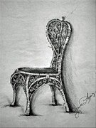 White House Mixed Media -  Garden Chair by Jaime Lopez