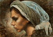 Scarf Originals -  Girl in a scarf by Arthur Braginsky