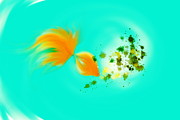 Nature Scene Mixed Media Prints -  Gold fish Print by Len YewHeng