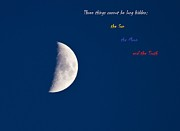 March 19 Prints -  Half Moon with a quote Print by Eti Reid