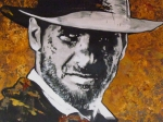 Indiana Drawings Metal Prints -  Harrison Ford - Indiana Jones  Metal Print by Eric Dee