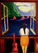 Sailboats In Water Painting Posters -    Haunani Poster by Frank B Shaner