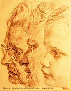 Have Your 3 Generations Drawn Or Painted Print by PainterArtistFINs Husband MAESTRO