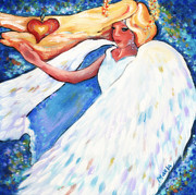 Arkansas Paintings -  Heart Flame Angel by Marla Hoover