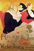 Painter Drawings Prints -  Henri de Toulouse Lautrec 1864 1901 French painter Reine de Joie 1892 Print by Anonymous