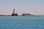 Yacht Photos -  Historical Chicago Harbor Light by Christine Till