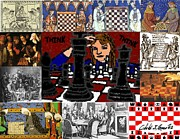 Chess Mixed Media Posters -  I The Chess Player And Chess History Poster by Cibeles Gonzalez