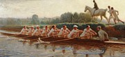 Rowing Crew Framed Prints -  In The Golden Days Framed Print by Hugh Goldwin Riviere