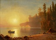 Famous Artists - Indian Canoe by Albert Bierstadt