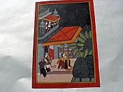 Harem Originals -  Indian miniature painting on heavy paper by Anonymous Indian artist